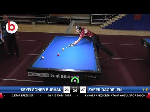 SEYFİ SONER BURHAN & ZAFER DAĞDELEN Bilardo Maçı - 2019 TÜRKİYE KUPASI 2.ETAP ERKEKLER-3.TUR