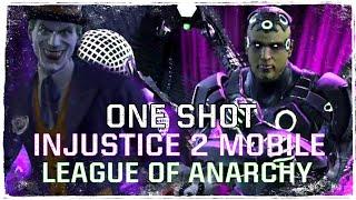 Injustice 2 Mobile - Лига Анархии Против Брейниака 6 рейд Last Laugh The Joker VS Brainiac One Shot