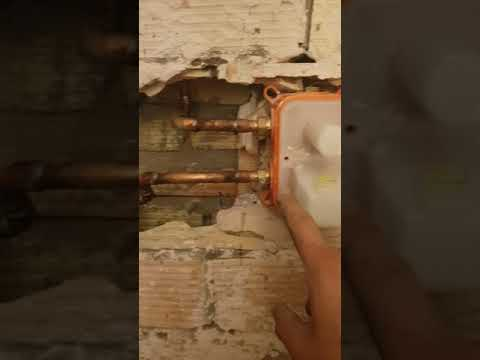 Montaje grifo ducha empotrado 2 salidas