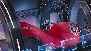 Питер Паркер собирает себе новый костюм. Человек-Паук: Вдали от дома. 2019