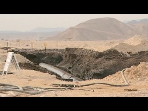 Pollution au pétrole dans le sud du désert en Israël