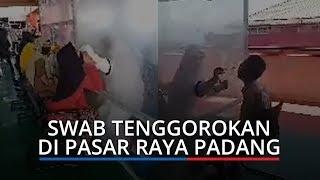 571 Orang Swab Tenggorokan di Pasar Raya Padang, Hasilnya 38 Positif Covid-19