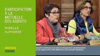 Participation de la ville à la mutuelle des agents : Mireille Alphonse CM 03/10/2018