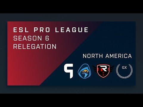 CS:GO - GX vs. Rise Nation | Ghost vs. Rogue - NA Relegation Deciders - ESL Pro League Season 6