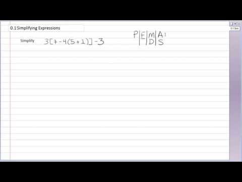 Simplifying Expressions p1