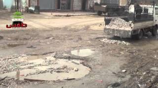 preview picture of video 'طفس : تسوية المطبات في الشوارع من قبل المجلس المحلي'