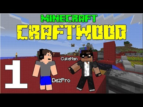 STAVÍME SÍDLO! Minecraft CRAFTWOOD #01 /wCukeMan