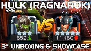 Hulk (Ragnarok) Unboxing & Duel vs. Thor (Ragnorok) | Marvel Contest of Champions