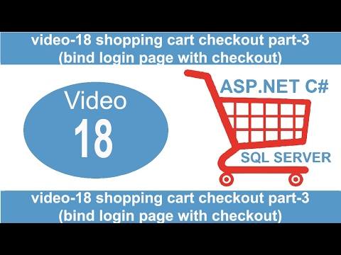 shopping cart checkout part-3 bind login page with checkout