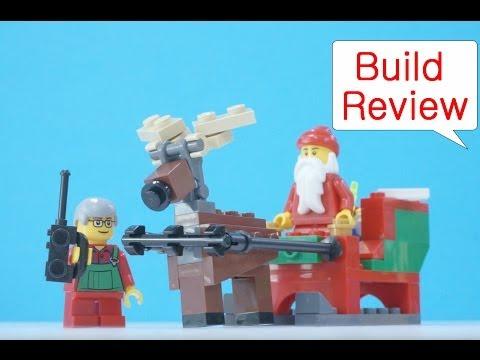 Vidéo LEGO Saisonnier 40059 : Le traîneau du Père Noël