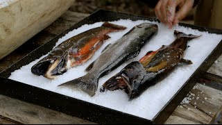 """How To Cook Lake Trout In """"Little Hell"""" With Francis Mallmann And Ed Lee"""
