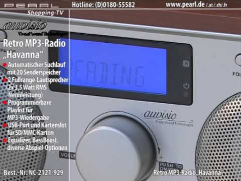 Nostalgisches Hightech-MP3-Radio mit USB & SD-Cardreader Küchenradio