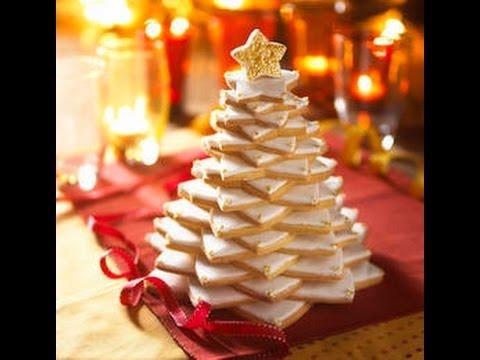 ALBERO DI BISCOTTI ♥ Alberello di Natale fatto con biscotti ♥ VIDEORICETTA