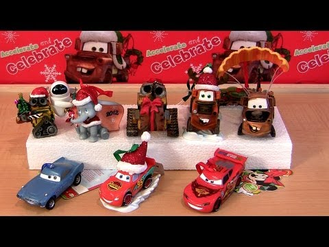 8 Cars 2 Hallmark Christmas Ornaments 2012 Holiday Edition Keepsake Wall-E Disney Dumbo Pixar Toys