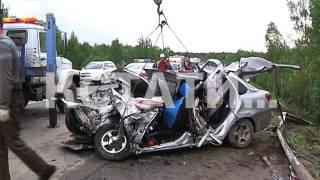 Четыре смерти в одной машине - большегруз раздавил машину с пассажирами