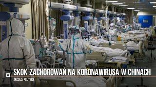 Skok zachorowań na koronawirusa w Chinach