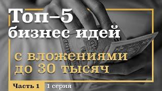 ТОП-5 Бизнес ИДЕЙ с вложениями ДО 30 тыс. руб. Бизнес Идеи для Начинающих Предпринимателей