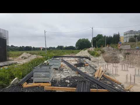 Budowa drogi ekspresowej S19 - zbrojenie obiektu MS-29 - ul. Janowska.