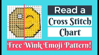 HOW TO READ A CROSS STITCH CHART & Follow A Cross Stitch Pattern | How To Do Cross Stitch Flosstube