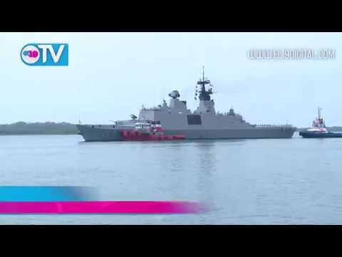 Flotilla de instrucción de la Fuerza Naval de Taiwán arriba a Puerto Corinto