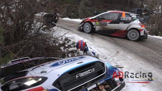 Crashes & Show SS3 Rallye Monte Carlo 2020 | ADRacing
