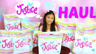 HUGE JUSTICE WINTER FASHION CLOTHING & ACCESSORIES HAUL! HOLIDAY SHOPPING! TIANA HEARTS