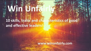 Leadership matters! What makes a good leader? #leadership #win #winunfairly #life #success