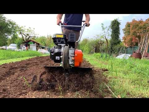Fresare il terreno con la motozappa