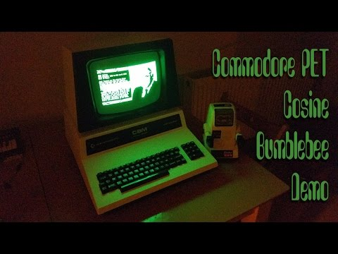 Commodore PET (CBM 8032) - Cosine Bumblebee Demo - Real hardware