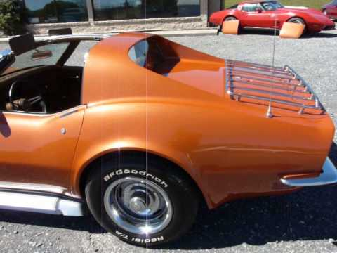 1971 Ontario Orange Corvette Stingray Dark Saddle Int 4spd Video