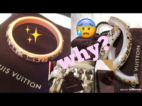 LOUIS VITTON INCLUSION BRACELET (anong nangyari)+ WATCHES COLLECTION & DIOR POUCH