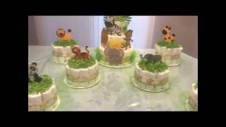 Safari Themed Diaper Cake Combo