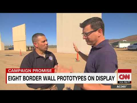 8 prototypes for Trump's border wall