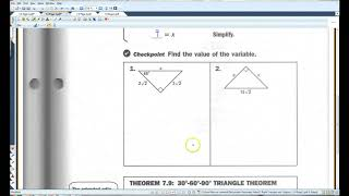 7 4 Special Right Triangles