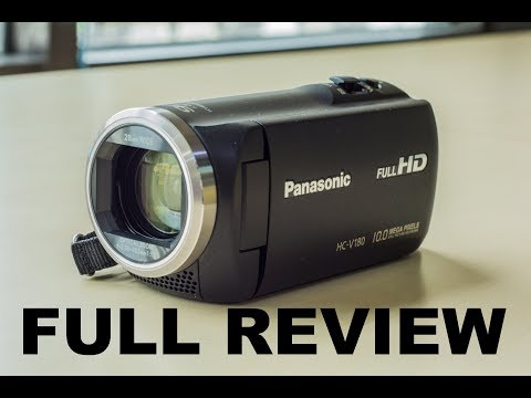 Full Review Unboxing Camcorder Handycam Panasonic HC-V180 Fullhd Zoom Low Light Recording Time