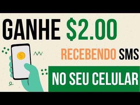 Ganhe 2 Dólares por Apenas Receber SMS no seu Celular | Renda Extra | Aplicativo Pagando