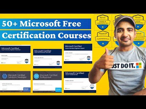 Microsoft Free Certification Courses | 50+ FREE Microsoft ... - YouTube