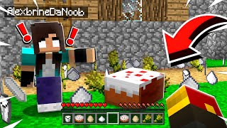 Noob Girl BAKES A CAKE In Minecraft... And I Go CRAZY
