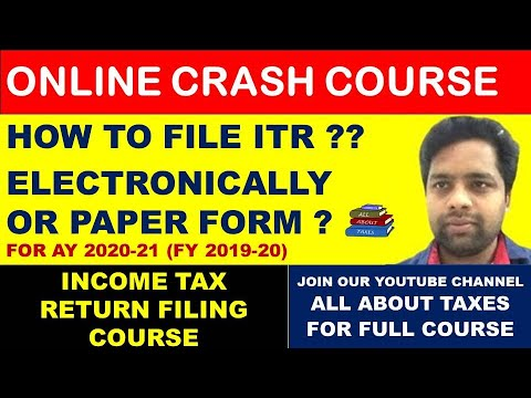FREE INCOME TAX RETURN COURSE AY 2020-21 (FY 2019-20)I ...