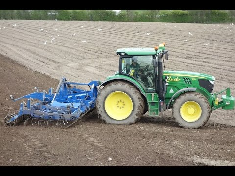 John Deere 6150r Cultivating 2016
