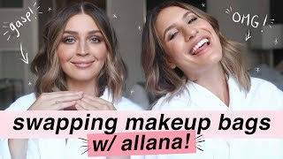 SWAPPING MAKEUP BAGS WITH ALLANA DAVISON! | Get Ready With Us | Jamie Paige