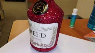 DIY CUSTOM GLITTER HENNESSY  BOTTLE! With Label