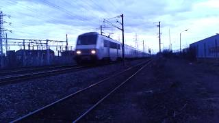 preview picture of video 'Train intercité ex TEOZ Clermont-Ferrand -Paris à Riom (63)'