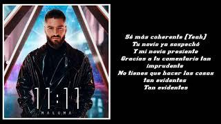 Maluma - Shhh Calla (LETRA)