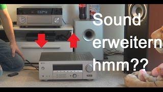Soundsystem erweitern mit externen Verstärker an Verstärker anschließen Vor Endstufen Kombination