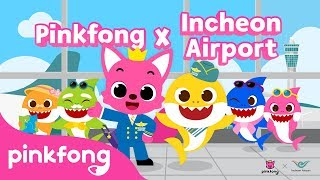 Pinkfong & Baby Shark At The Airport! | Pinkfong X Incheon Airport | BTS Sketch Video