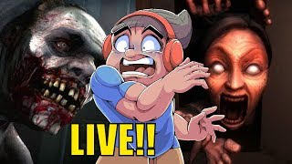 LET'S RUN FOR OUR LIVES, LIVE!! [HORROR GAMES]