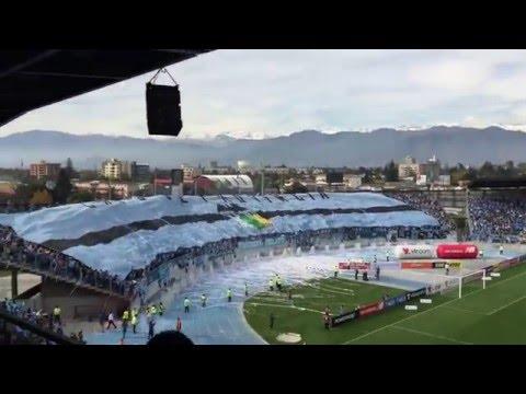 """""""O´Higgins - Recibiento Trinchera Celeste vs Udec. Estadio El Teniente de Rancagua"""" Barra: Trinchera Celeste • Club: O'Higgins"""