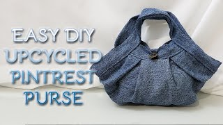 How To Make An Easy DIY Upcycled Pintrest Denim Purse