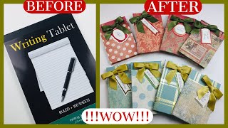 💰CRAFT FAIR GOLD MINE💰 Get Eight Notepads From One DOLLAR STORE Writing Tablet ⭐️⭐️GENIUS⭐️⭐️
